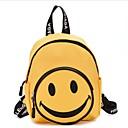 お買い得  バックパック-女の子 バッグ キャンバス スクールバッグ ジッパー ブラック / ルビーレッド / イエロー