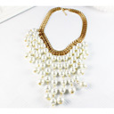 ieftine Coliere-Pentru femei Coliere Franjuri Hiperbolă Elegant Imitație de Perle Aliaj Auriu 47 cm Coliere Bijuterii 1 buc Pentru Nuntă Petrecere