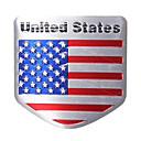 baratos Decoração e Proteção Corporal Automotiva-EUA bandeira metal auto remodele carro emblema emblema decalque autocolante
