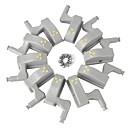 billige Originale lamper-10pcs LED Night Light Varm hvit / Kjølig hvit Knapp batteridrevet Smuk 5 V