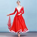 Χαμηλού Κόστους Ρούχα για χοροεσπερίδα-Επίσημος Χορός Φορέματα Γυναικεία Επίδοση Οργάντζα / Mohair Διαφορετικά Υφάσματα / Κρύσταλλοι / Στρας Μακρυμάνικο Φόρεμα / Κολιέ
