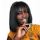 povoljno Perike s ljudskom kosom-Ljudska kosa Lace Front Perika Bob frizura Kratak Bob Srednji dio stil Brazilska kosa Silky Straight Crna Perika 130% Gustoća kose s dječjom kosom Prirodna linija za kosu Za crnkinje 100% Djevica
