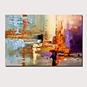 cheap People Paintings-Oil Painting Hand Painted - Abstract Landscape Comtemporary Modern Stretched Canvas
