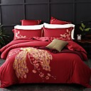 preiswerte Luxus Duvet Covers-Bettbezug-Sets Zeitgenössisch Polyester Reaktivdruck 4 StückBedding Sets