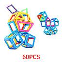 رخيصةأون مكعبات مغناطيسية-مكعبات مغناطيسية البلاط المغناطيسي 60 pcs نمط هندسي الجميع للصبيان للفتيات ألعاب هدية