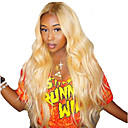 cheap Human Hair Capless Wigs-Remy Human Hair Human Hair 360 Frontal Wig Bob Short Bob Kardashian style Brazilian Hair Body Wave Blonde Wig 150% Density with Baby Hair Natural Hairline African American Wig For Black Women With