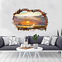 رخيصةأون ملصقات الحائط-لواصق حائط مزخرفة - لواصق مناظر طبيعية / 3D غرفة الجلوس / غرفة النوم / مطبخ