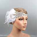 povoljno Stare svjetske nošnje-Perje Trake za kosu / Headpiece s Kristal / Perje 1 kom. Vjenčanje / Zabava / večer Glava