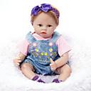 abordables Muñecas-FeelWind Muñecas reborn Muñeca chica Bebés Niñas 22 pulgada Silicona Vinilo - natural Hecho a Mano Bonito Niños / Adolescentes No tóxico Kid de Unisex Juguet Regalo