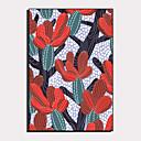 hesapli Çerçeveli Resimler-Çerçeveli Tuval Çerçeve Seti - Karton Çiçek / Botanik Plastik Çizim Duvar Sanatı