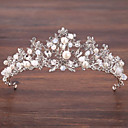 cheap Party Headpieces-Alloy Tiaras with Faux Pearl / Crystals 1 Piece Wedding / Special Occasion Headpiece