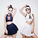 halpa Ura & Ammatti Puvut-Cheerleader Aikuisten Lukio Naisten Tyttöjen Mekot Cosplay-Asut Käyttötarkoitus Suoritus Puuvilla Kirjain Karnevaali Masquerade Toppi Hame