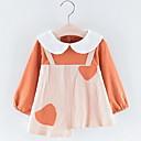 preiswerte Zubehör für Puppen-Baby Mädchen Aktiv Einfarbig Langarm Polyester Kleid Orange