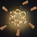 hesapli LED Şerit Işıklar-2m Dizili Işıklar 20 LED'ler SMD 0603 Sıcak Beyaz / Beyaz / Kırmızı Yaratıcı / Kesilebilir / Parti 3 V 6pcs