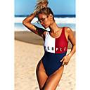 billige Fitness, løbe- og yogatøj-Dame Med stropper Hvid Cheeky En del Badetøj - Farveblok M L XL Hvid / Sexy