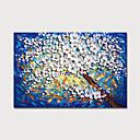 abordables Peintures Abstraites-Peinture à l'huile Hang-peint Peint à la main - Abstrait A fleurs / Botanique Moderne Inclure cadre intérieur