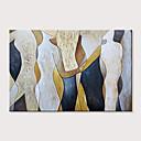 halpa Kehystetty taide-Hang-Painted öljymaalaus Maalattu - Abstrakti Ihmiset Moderni Ilman Inner Frame