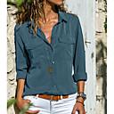 povoljno Ženske čizme-Veći konfekcijski brojevi Majica Žene - Osnovni Dnevno Jednobojni Kragna košulje Sive boje