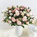 halpa Tekokukat-Keinotekoinen Flowers 3 haara Klassinen Tyylikäs Eurooppalainen Ruusut Eternal Flowers Pöytäkukka