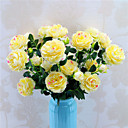 cheap Pillow Covers-Artificial Flowers 5 Branch Classic Stylish Wedding Roses Peonies Tabletop Flower
