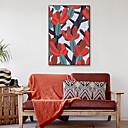 halpa Kehystetty taide-Kehystetty kanvaasi Kehystetty setti - Sarjakuva Kukkakuvio / Kasvitiede Muovi Illustration Wall Art
