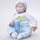 abordables Muñecas-FeelWind Muñecas reborn Bebés Niños 22 pulgada Silicona Vinilo - natural Hecho a Mano Bonito Niños / Adolescentes No tóxico Kid de Unisex Juguet Regalo