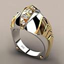 povoljno Modno prstenje-Žene Band Ring Sintetički dijamant 1pc Bijela Pozlaćeni Legura Geometric Shape pomodan Party Dar Jewelry Geometrijski Ribe Cool
