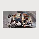 hesapli Çerçeveli Resimler-Hang-Boyalı Yağlıboya Resim El-Boyalı - Soyut Modern Iç çerçeve dahil / Gerilmiş kanvas