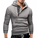 cheap Men's Boots-Men's Hat / Simple / Casual Hoodie - Solid Colored / Letter Red XXXL