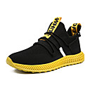 cheap Men's Athletic Shoes-Men's Comfort Shoes Tissage Volant Spring & Summer Sporty Athletic Shoes Running Shoes Breathable Black / Orange / Yellow