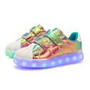 preiswerte Anime-Kostüme-Mädchen Schuhe Leder Frühling Leuchtende LED-Schuhe Sneakers LED für Kinder Weiß / Purpur / Rosa