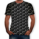 cheap Hiking Trousers & Shorts-Men's EU / US Size T-shirt - 3D Print Round Neck Black XL
