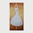 abordables Portraits-Peinture à l'huile Hang-peint Peint à la main - Personnage Moderne Inclure cadre intérieur