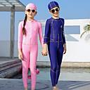 halpa Märkäpuvut, sukelluspuvut ja suoja-asut-QISEHAI Poikien Tyttöjen Skin-tyyppinen märkäpuku Sukelluspuvut Pidä lämpimänä UV-aurinkosuojaus Full Body Etuvetoketju - Uinti Sukellus Vesiurheilu Patchwork Syksy Kevät Kesä / Elastinen / Lasten