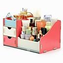 cheap Jewelry & Cosmetic Storage-Storage Organization Cosmetic Makeup Organizer Wooden Rectangle Shape Triple-layer
