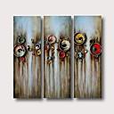 halpa Abstraktit maalaukset-Hang-Painted öljymaalaus Maalattu - Abstrakti Comtemporary Moderni Sisällytä Inner Frame / 3 paneeli / Venytetty kangas
