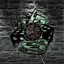 billige Vægure-poker stjerne kort væg ur vinyl rekord væg ur