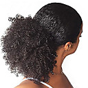 cheap Hair Pieces-Afro Kinky Curly Ponytail For Black Women 100% Human Hair Clip In Ponytails 10-22inch Natural Black