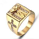 זול שרשראות לגברים-בגדי ריקוד גברים רטרו חרות טבעת טבעת החותם פלדת טיטניום אופנתי Fashion Ring תכשיטים זהב עבור מתנה יומי