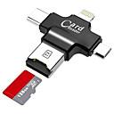 abordables Lampes & Lanternes de Camping-LITBest MicroSD / MicroSDHC / MicroSDXC / TF USB 2.0 / Micro USB / Eclairage Lecteur de cartes Mobile Android / Ordinateur / Pour iPhone