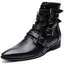 halpa Miesten saappaat-Miesten Fashion Boots Nappanahka Talvi Vapaa-aika / Englantilainen Bootsit Pidä lämpimänä Säärisaappaat Musta / Juhlat