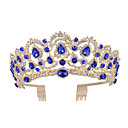 cheap Party Headpieces-Crystal / Alloy Tiaras with Crystal 1 Piece Wedding / Daily Wear Headpiece