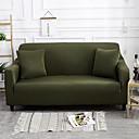 זול כיסויים-ספה לכסות גבוהה למתוח ירוק כהה קומבינטורית רכה פוליאסטר slipcovers