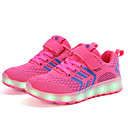 cheap Fitness Gear & Accessories-Girls' Shoes Knit Spring / Fall Light Up Shoes Athletic Shoes Walking Shoes Buckle / LED for Kids Blue / Pink / Black / Red