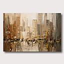 halpa Abstraktit maalaukset-Hang-Painted öljymaalaus Maalattu - Abstrakti Comtemporary Moderni Sisällytä Inner Frame / Venytetty kangas