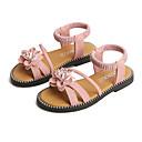povoljno Haljine za djevojčice-Djevojčice PU Sandale Mala djeca (4-7s) / Velika djeca (7 godina +) Obuća za male djeveruše Cvijet Crn / Zelen / Pink Ljeto