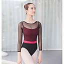economico Abbigliamento danza classica-Danza classica Body Per donna Addestramento / Prestazioni Cotone / Elastene / Viscosa Più materiali Manica lunga Calzamaglia / Pigiama intero