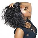 billige Blondeparykker af menneskehår-Menneskehår Blonde Front Paryk Bob frisure Kort bob Rihanna stil Brasiliansk hår Krop Bølge Paryk 130% Hår Densitet med baby hår Natural Hairline Afro-amerikansk paryk Til sorte kvinder Med bløde