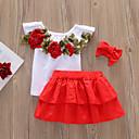 preiswerte Kleidersets für Mädchen-Baby Mädchen Aktiv Solide Gefaltet Ärmellos Standard Kurz Baumwolle / Elasthan Kleidungs Set Weiß