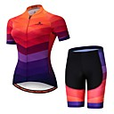 cheap Cycling Jersey & Shorts / Pants Sets-Miloto Women's Short Sleeve Cycling Jersey with Shorts - Camouflage Bike Jersey Padded Shorts / Chamois Clothing Suit Breathable Moisture Wicking Reflective Strips Sports Lycra Multi Color Clothing